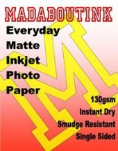 Single Sided Matte Inkjet Photo Paper 130gsm 100 A4 Sheets